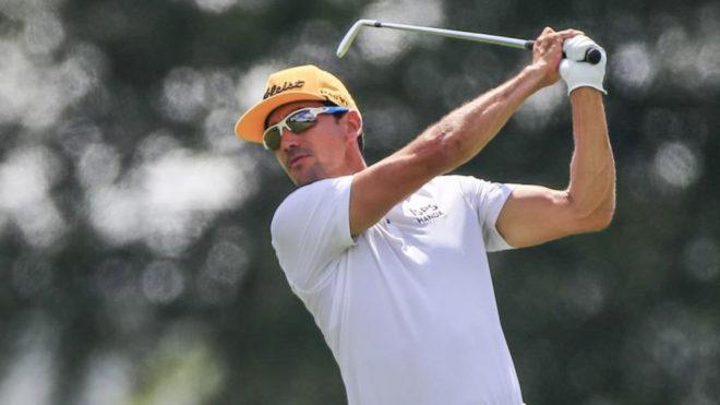 Rafa Cabrera Bello, durante el World Golf Championships.