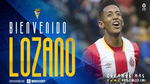 Imagen ofrecida por el Cádiz en su web como bienvenida al jugador.