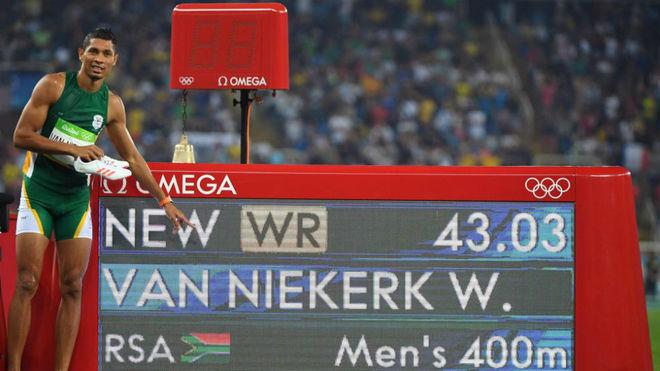 Wayde van Niekerk, en los Juegos de Río.
