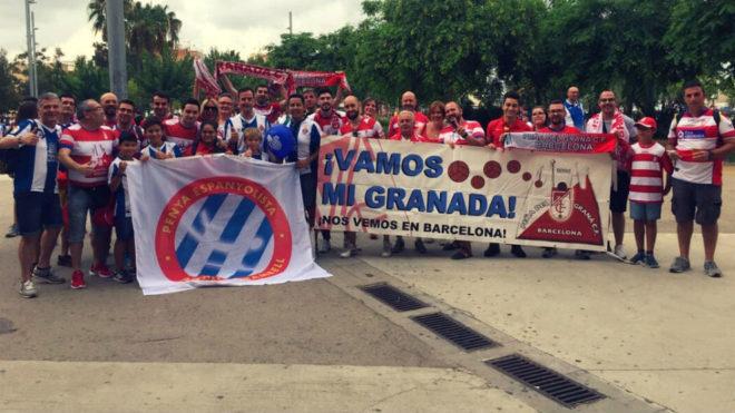 Hermanamiento entre la afición del Granada CF y el RCD Espanyol