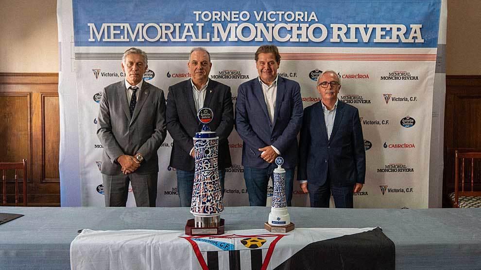 Paco Zas, Ángel Mato, Ignacio Rivera y Pepe Criado, durante la...
