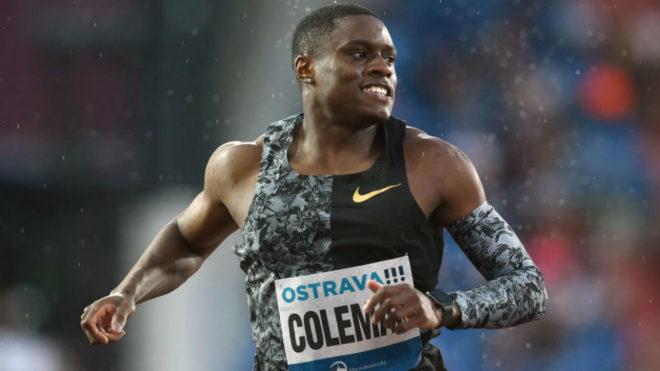 Christian Coleman durante una carrera en Ostrava en junio de este...