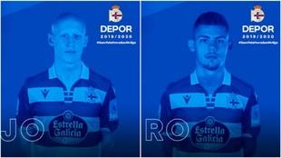 Mollejo y Montero anunciados como nuevos jugadores del Deportivo