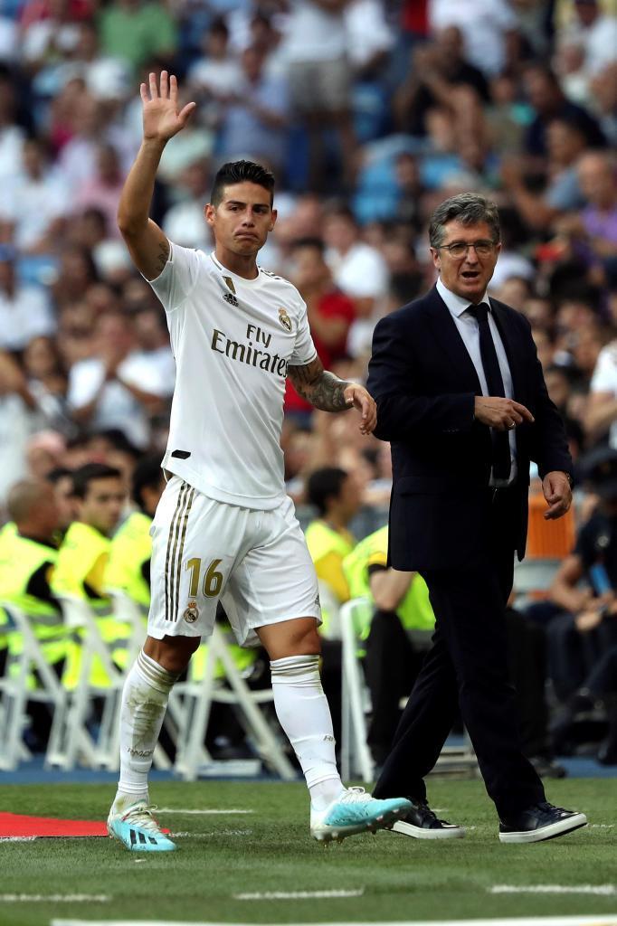 James en un partido con el Madrid