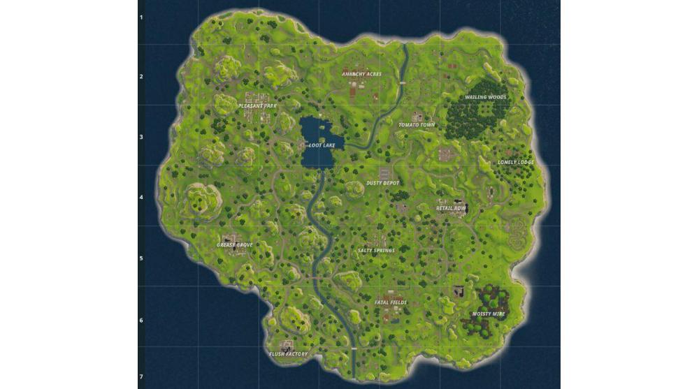 Mapa Fortnite Temporada 1.Fortnite Asi Ha Cambiado El Mapa De Fortnite A Lo Largo De
