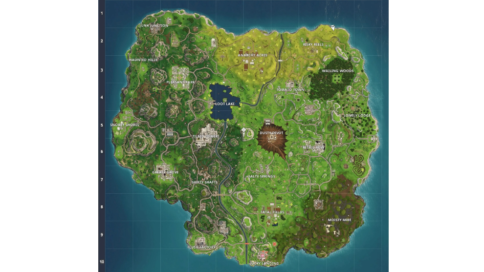 Mapa Fortnite Temporada 4.Fortnite Asi Ha Cambiado El Mapa De Fortnite A Lo Largo De