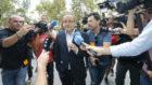 El ex presidente del Zaragoza, Agapito Iglesias, a su llegada la...