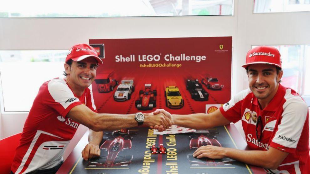 De la Rosa y Alonso, durante su etapa en Ferrari.