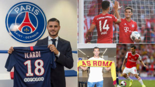 Icardi, Perisic, Coutinho, Mkhitaryan y Ceballos.