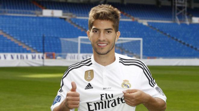 Lucas Silva, el día de su presentación con el Real Madrid