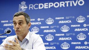 Carmelo del Pozo, en una rueda de prensa.