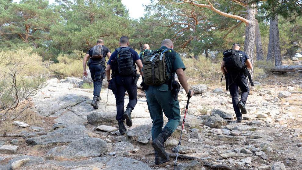 Guardia Civil y Policía Nacional, buscando rastros de Blanca...