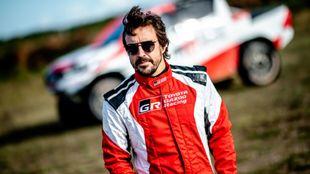 Fernando Alonso, durante su test en Polonia.