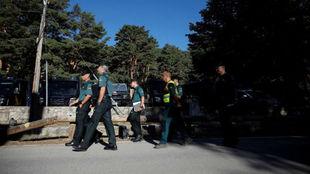 Efectivos de la Guardia Civil en la búsqueda de Blanca Fernández...