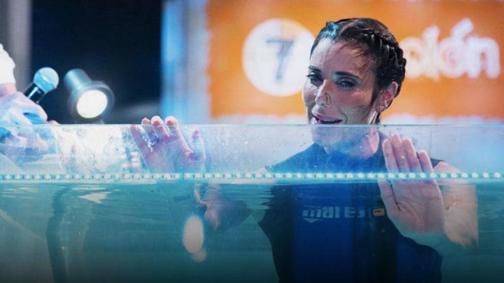 Pilar Rubio bate el récord de apnea y se lo dedica a Sergio Ramos
