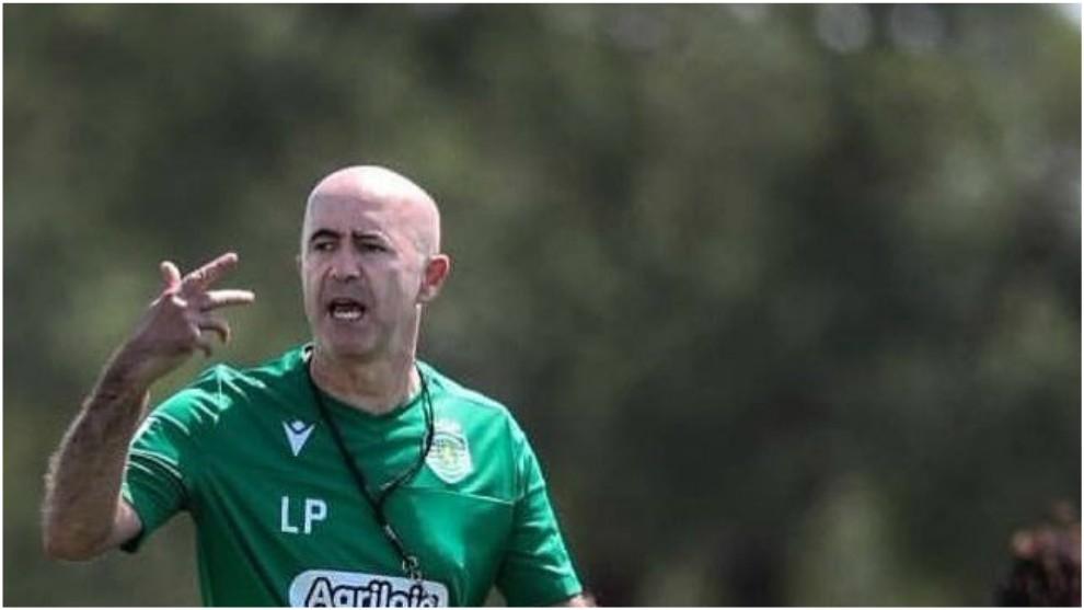 Leonel Pontes, en un entrenamiento con el Sporting CP.