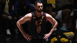 Kevin Love en un partido con los Cleveland Cavaliers