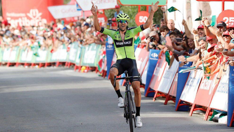 Mikel Iturria celebra el triunfo