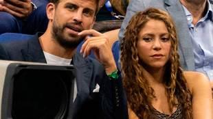 El futbolista Gerard Piqué (Barcelona) y la cantante Shakira...