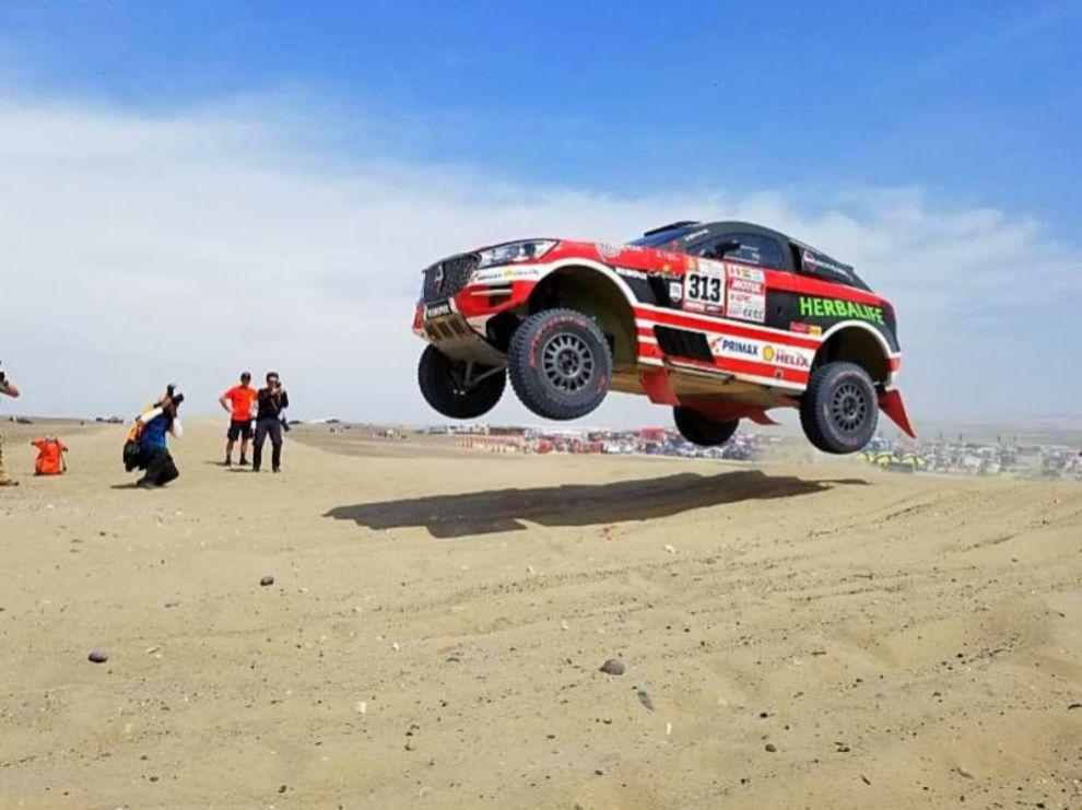El Borgward BX7, en acción en el Dakar 2018.