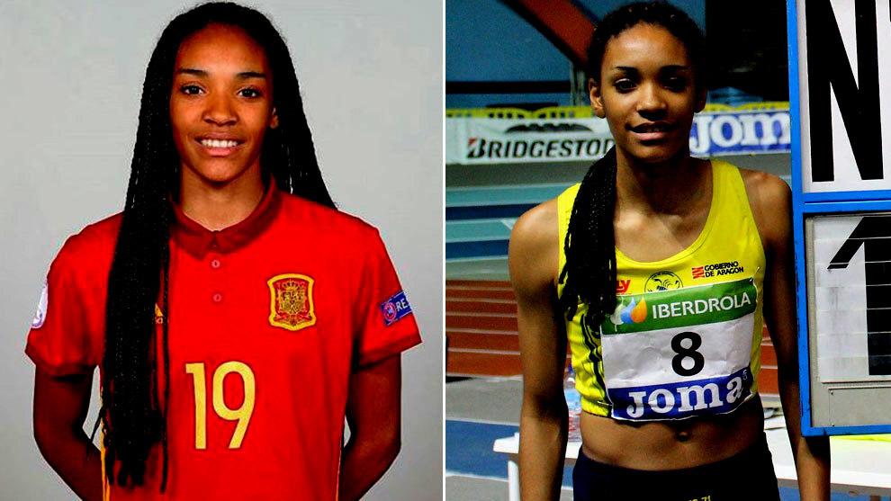 Salma Paralluelo, futbolista y atleta
