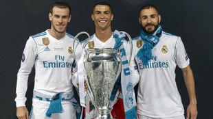 Gareth Bale, Cristiano Ronaldo y Karim Benzema, la BBC del Real Madrid
