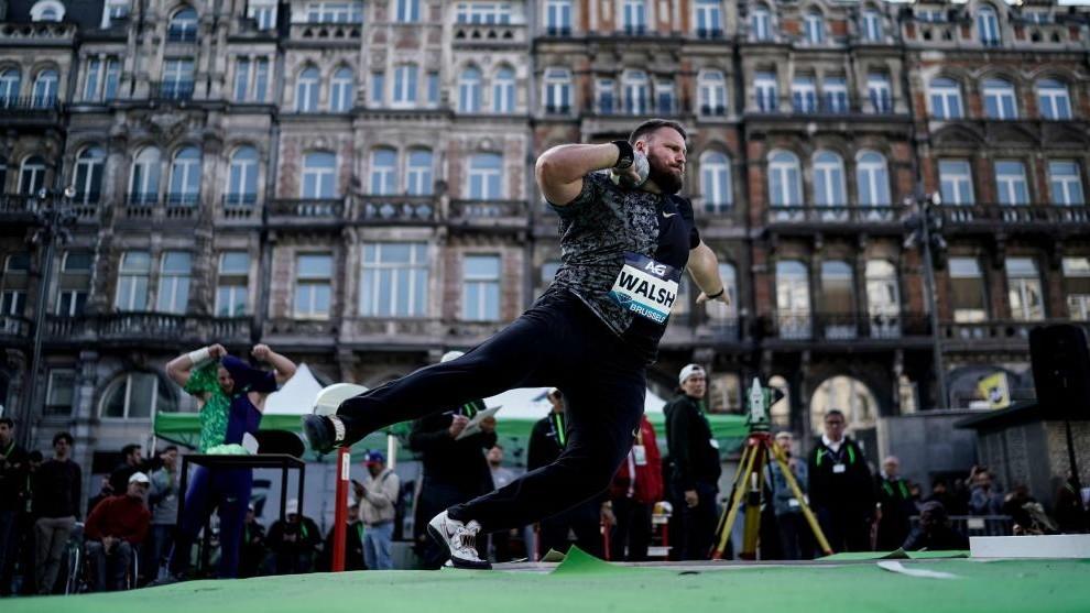 Tomas Walsh, en acción en Bruselas