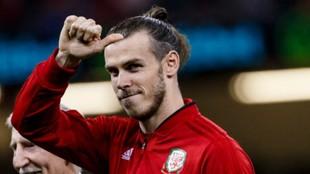 Gareth Bale con la selección galesa