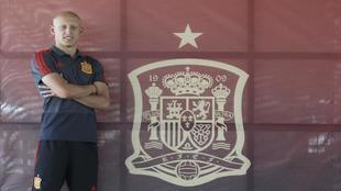 Víctor Mollejo con la selección sub 19