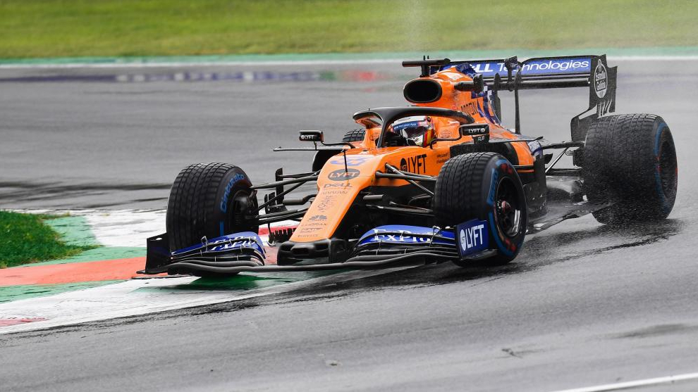 Carlos Sainz, durante los Libres 1 en Monza.