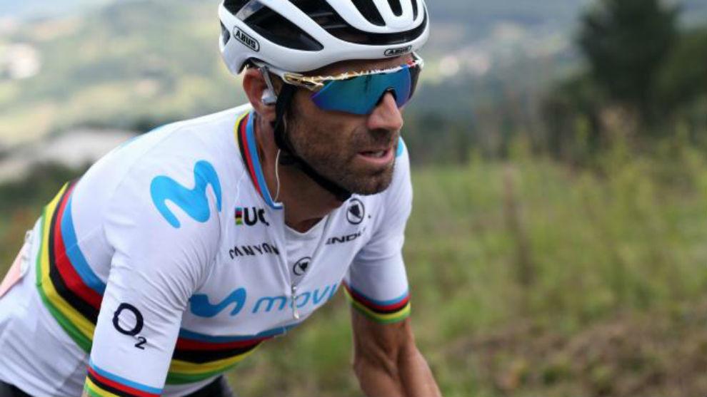 Valverde durante la 13ª etapa de la Vuelta.