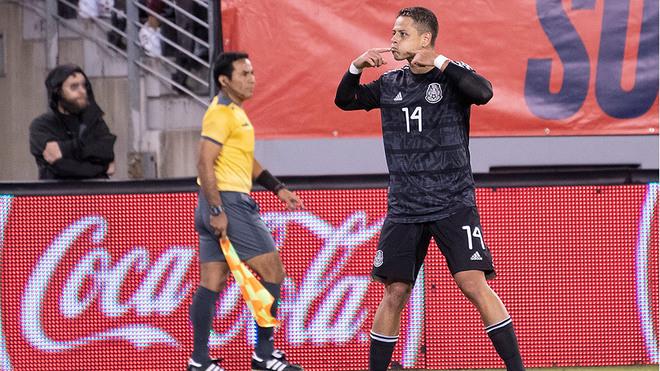 Celebración de Javier Hernández.