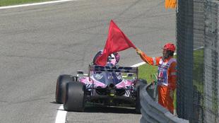 Checo Pérez, fuera en la Q1 en Monza.