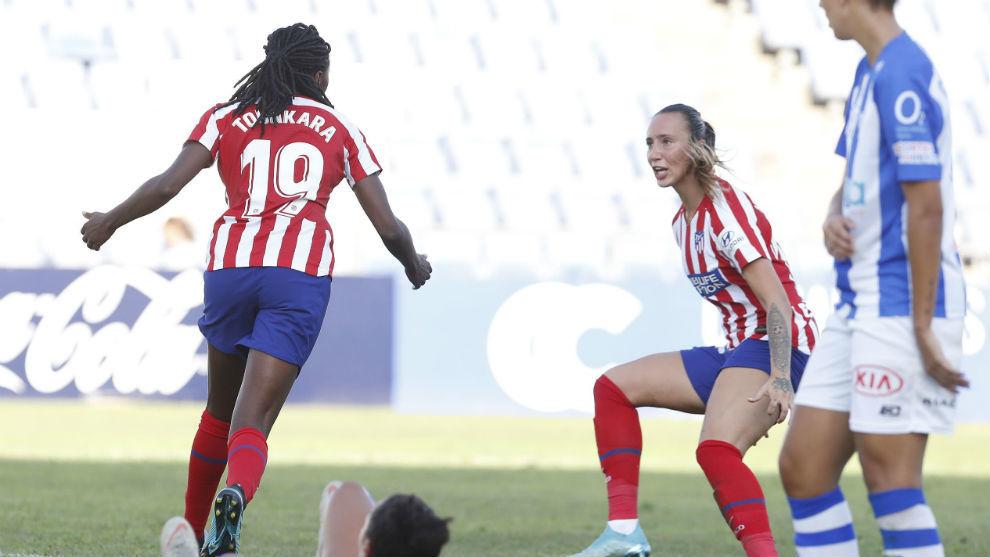 Tounkara celebra el gol marcado en el Nuevo Colombino.