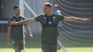Joaquín, en un entrenamiento reciente.