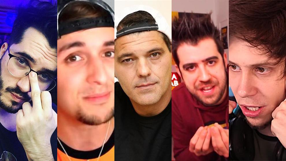 Wismichu, Dalas, Frank Cuesta, Auronplay y El Rubius