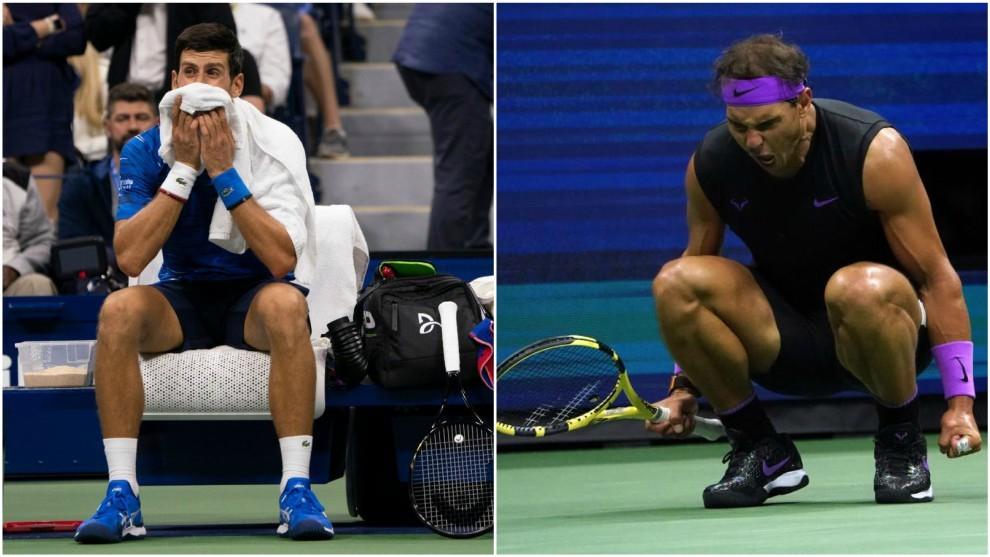 Djokovic y Nadal, dos imágenes diferentes en el US Open