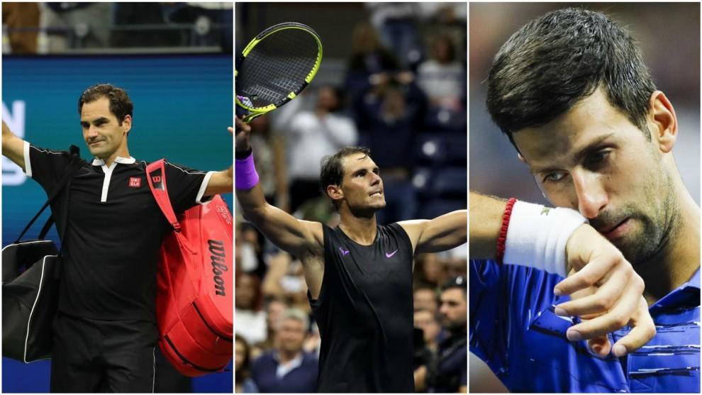 Federer, Nadal y Djokovic, en Nueva York