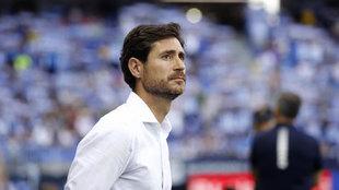 Víctor Sánchez, durante un partido LaLiga SmartBank entre el Málaga...
