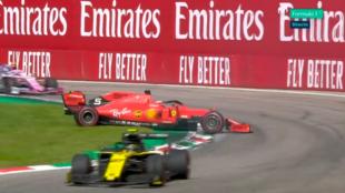 El trompo de Sebastian Vettel.