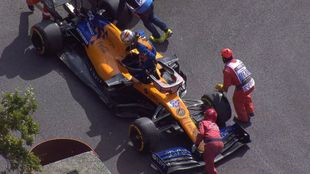 El momento del abandono de Carlos Sainz.