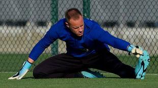 Marc-André ter Stegen, en un entrenamiento.