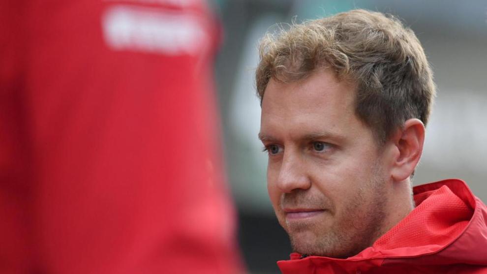 Sebastian Vettel, en Monza.