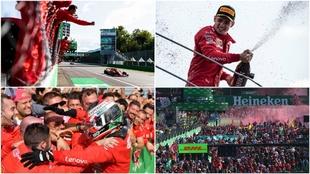 Fotos de agencias, Ferrari y circuito de Monza.