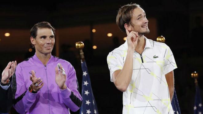 Medvedev y Rafa Nadal.