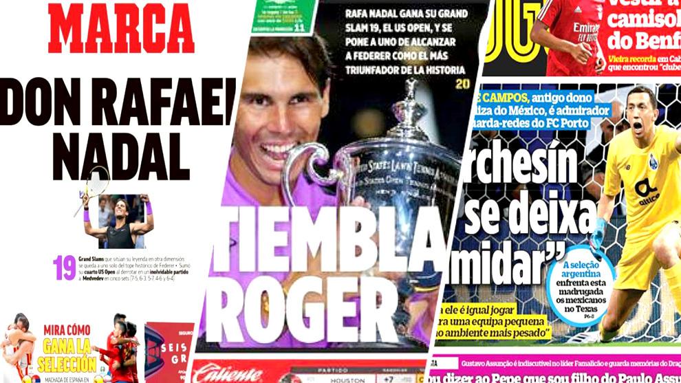 El Grand Slam 19 de Rafa Nadal y Marchesín, acaparan las portadas del...