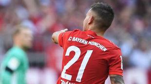 Lucas, en un partido del Bayern