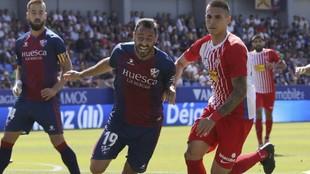 Pedro López, antes de lesionarse, en el partido disputado ante el...