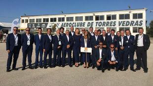El equipo de la Federación Española de Aeronáutica