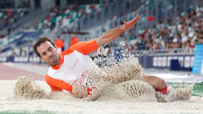 Eusebio Cáceres, durante la competición en Minsk con Europa